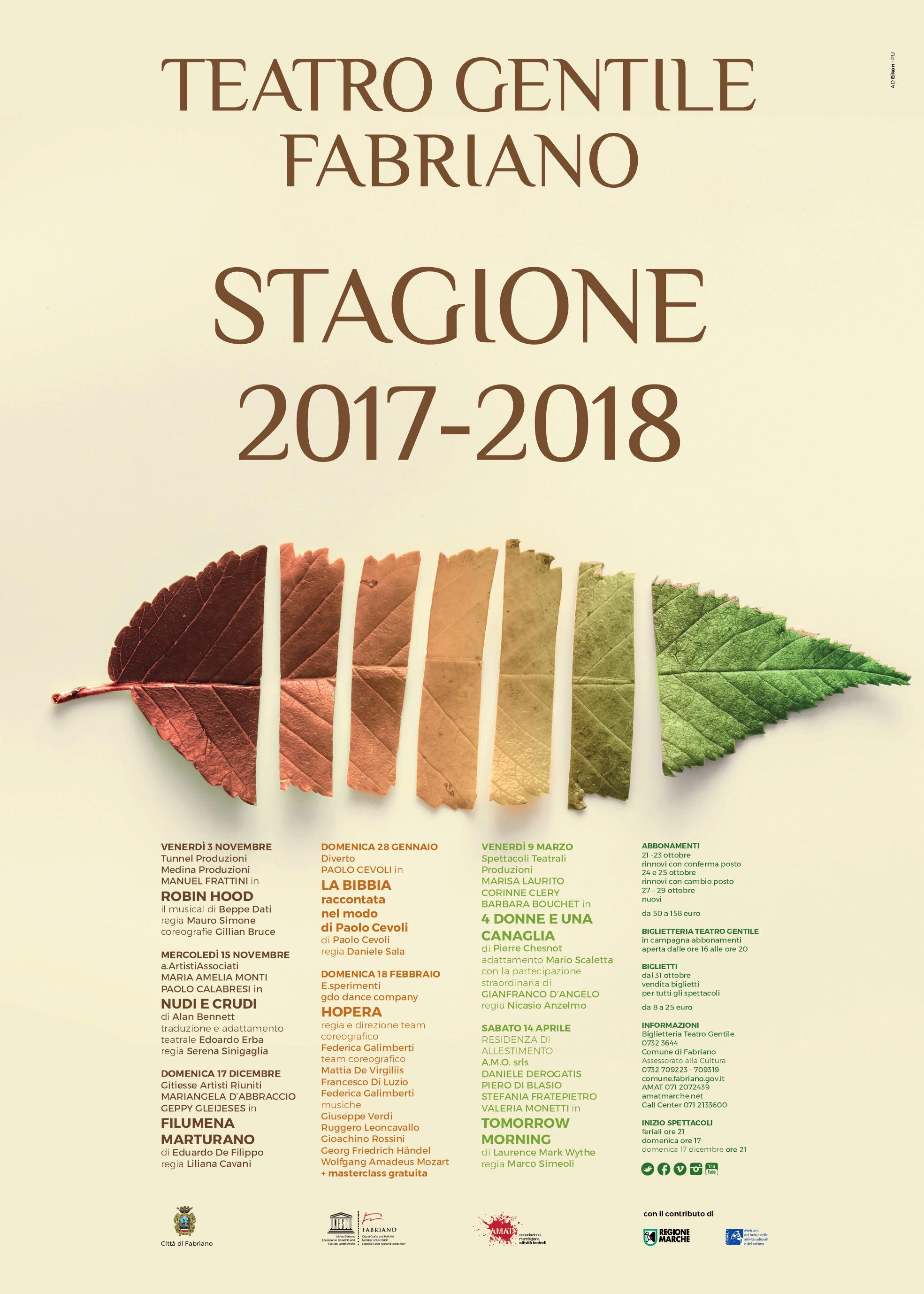 Stagione teatrale 2017 2018 forum fabriano tripadvisor for Eventi marche 2017